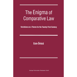 The Enigma of Comparative Law als Buch von Esin Örücü/ A.E. Orucu
