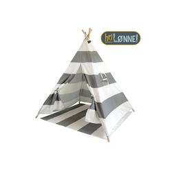 Hej Lønne Tipi-Zelt Tipi Zelt für Kinder grau gestreift Indianerzelt