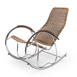 Fotel bujany Fabar brązowy technorattan