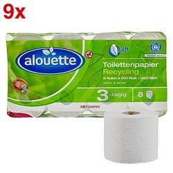 AKTION: alouette Toilettenpapier Recycling 3-lagig 72 Rollen