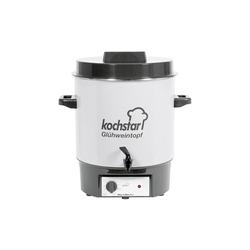 KOCHSTAR Einkochautomat WarmMaster A 1/4 mit Ablaufhahn 27l Ø35cm steingrau/weiß
