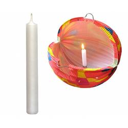 Kerzen für Lampions und Laternen 100 mm lang, weiß, 6 Stk.