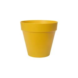 Elho Übertopf Loft Urban rund Blumentopf Übertopf 20 - 60 cm gelb Ø 25 cm