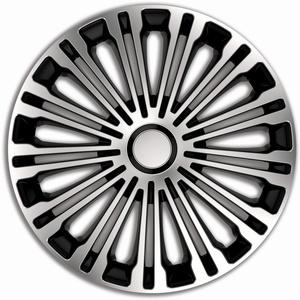 All4You Radkappen Volante 17 Zoll 4er Pack Radzierblenden Silber Schwarz Silver Black