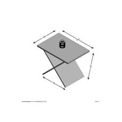 FMD Tisch Phil braun Tischplatte: Holzwerkstoff, Gestell: Holzwerkstoff