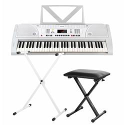FunKey 61 Keyboard Weiß SET inkl. Keyboardständer + Bank