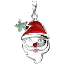 JOBO Kettenanhänger Weihnachtsmann-Kopf, 925 Silber