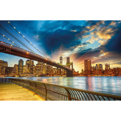 Fototapete Manhattan Sunset, glatt 2,50 m x 1,86 m