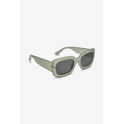 Next Sonnenbrille Eckige Sonnenbrille mit Bügeln in Schildpattoptik grün