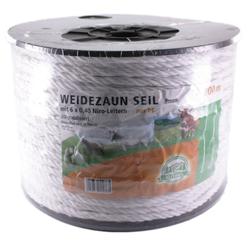 Weidezaun Seil »Plus« Elektroseil · 8mm, 200m, weiß