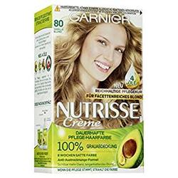 L'Oréal Garnier Nutrisse Creme Coloration Vanille Blond 80, 160g - 3er-Pack