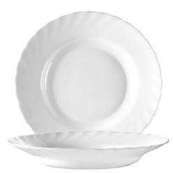 Suppenteller 22,5 cm Form Trianon uni weiß - ARCOPAL