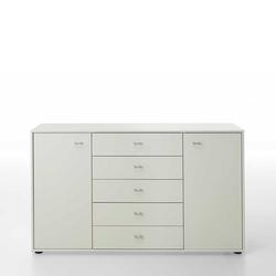 Schlafzimmer Sideboard in Weiß lackiert 140 cm