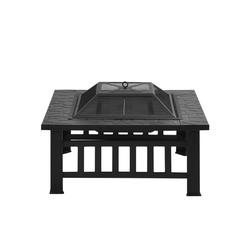 Gotui Feuerschale Feuerstelle, Mit Grillrost, Feuerschale Mit Funkenschutz Fire Pit Für BBQ