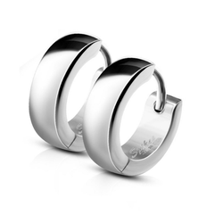 BUNGSA Creolen-Set Creolen mit Clipverschluss Silber aus Edelstahl