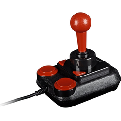 Speedlink Original Speedlink Competition Pro USB KOKA Edition Joystick Retro-Gaming Oldschool Acarde-Stick Arcade-Joystick (geeignet für Computerspiele, 4 Tasten und einen Stick zum bedienen, Rot und Schwarz)