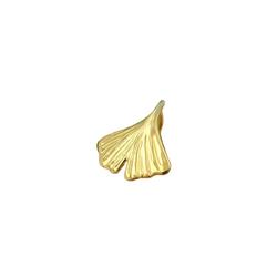 Gallay Kettenanhänger Anhänger 12mm Ginkgoblatt glänzend 9Kt GOLD goldfarben