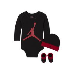 Jordan Set aus Bodysuit, Beanie und Booties für Babys - Schwarz, size: 0-6M