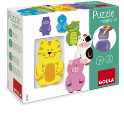 Goula Magnetisches Holzpuzzle Tiere