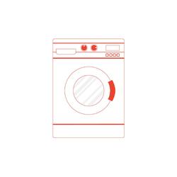 SMEG LBI147 60 cm Einbauwaschmaschine EEK A++