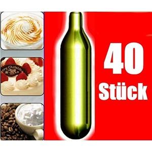 NEMT 40s 40 Stück N2O Sahnekapseln passend für alle handelsüblichen Sahnebereiter und Sahnespender Cream Whipper Chargers