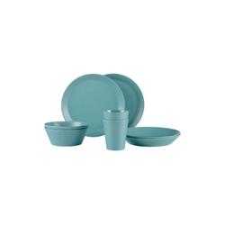 Mepal Geschirr-Set BLOOM Geschirr Set Pebble Green 8-teilig (8-tlg), Melamin