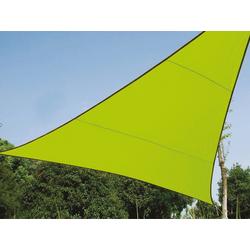 PEREL Sonnensegel, dreieckig Dreieck-Segel für Terrasse Balkon & Garten Sonnenschutz-Segel - Terrassenüberdachung grün