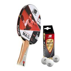 Sunflex Tischtennisschläger MA YAT SUM + 3x SX+ Bälle