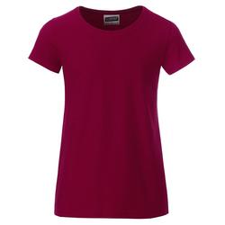 T-Shirt für Mädchen | James & Nicholson wine 122/128 (M)