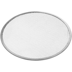 HENDI Pizza Screen, Pizzagitter, Pizzablech, Pizzaschieber, Ideal für gleichmäßiges Pizza-Backen, ø330mm, Aluminium