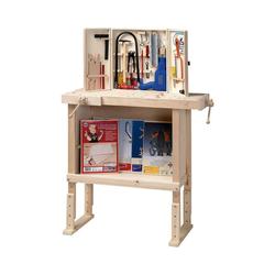 Pebaro Werkbank Kinderwerkbank aus Holz, höhenverstellbar