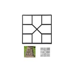 relaxdays Fundamentrahmen Betonform Gussform, BxT: 40x40 cm