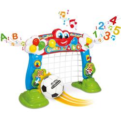 Clementoni® Lernspielzeug Clementoni Baby - Interaktives Fußballtor, mit Ball und Lernfunktion