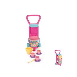 WADER QUALITY TOYS Spielgeschirr Spielzeug Kaffeeservice 10772, mit Spielzeugeimer und Wagen Höhe 59 cm