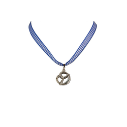 Halskette Brezel blau