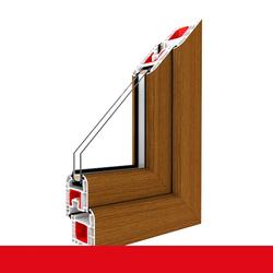 Kunststofffenster Dreh (ohne Kipp) Fenster Streifen Douglasie, Anschlag: DIN Links, Glas: 2-Fach, BxH: 900x1100 (90x110 cm)
