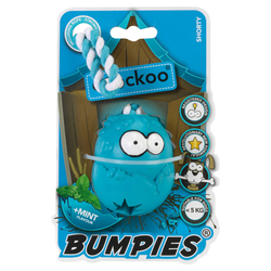 Coockoo Hundespielzeug Bumpies mit Seil Mint, Maße: 7 x 5,6 x 4,8 cm