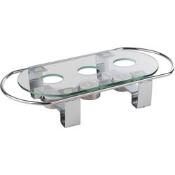 APS Stövchen, Metall/Glas, 3-flammig