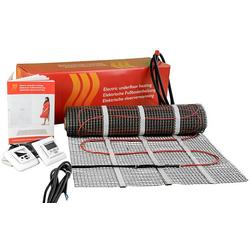 Elektro-Fußbodenheizung - Heizmatte 8 m² - 230 V - Länge 16 m - Breite 0,5 m (Variante wählen: Heizmatte 8 m² mit Digital-Raumthermostat)
