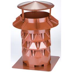 Kaminaufsatz NW150, Windkat, Kupfer, f. Kamine 13,5x 13,5 bzw. 15 cm
