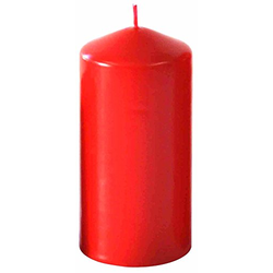 Kerzen Stumpenkerze Wiedemann Kerzen Farbe rot 150X80mm 1 Stück