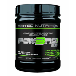 POW3RD! 2.0 Workout Booster - 350 g Dose - Scitec Nutrition® - Birne
