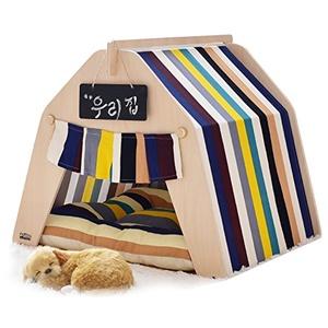 little dove Hause und Zelt mit Spitze für Hund oder Haustier, abnehmbar und waschbar,mit Matratze (Bunte) ... (S)