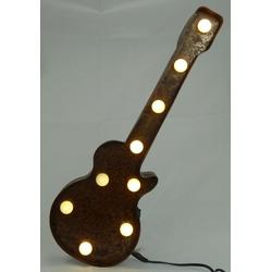 MARQUEE LIGHTS LED Dekolicht Old Guitar, Gitarre braun