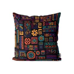Kissenbezug, VOID (1 Stück), Ethnisches Muster Kissenbezug ethnisch afrikanisch mexikanisch griechisch 80 cm x 80 cm