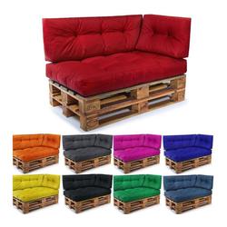 Easysitz Sitzkissen Palettenkissen Set 3, 120 x 80 cm für Europaletten rot