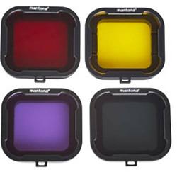 Mantona 21280 Objektiv-Filter Passend für: GoPro Hero 4, GoPro Hero HD 3+