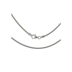 Bella Carina Silberkette Silberkette Schlangenkette 1,9 mm 925 Silber, 925 Silber 80 cm