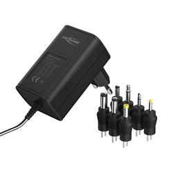 ANSMANN® APS 300 Netzteil 12V - Netzstecker bis max. 300mA (7 universal Adapter) Netzteil