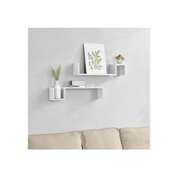 en.casa Wandregal, Lillesand Design Hängeregal weiß weiß